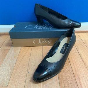 Selby Penny Black Pump Heels Extra Narrow